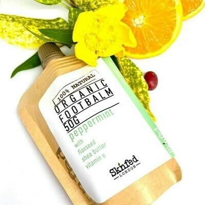 Sknfed Organic Footbalm-peppermint, 50ml
