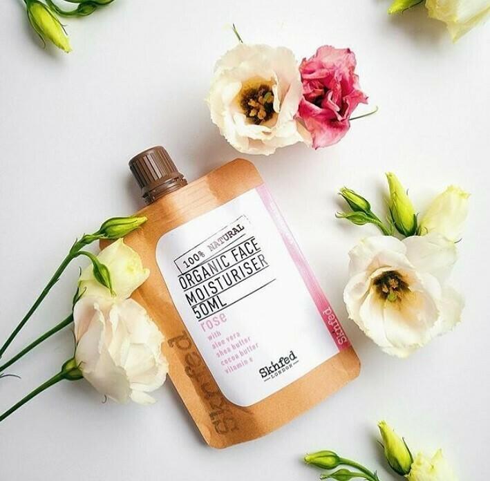 Sknfed Organic Face Moisturiser-Rose, 50ml