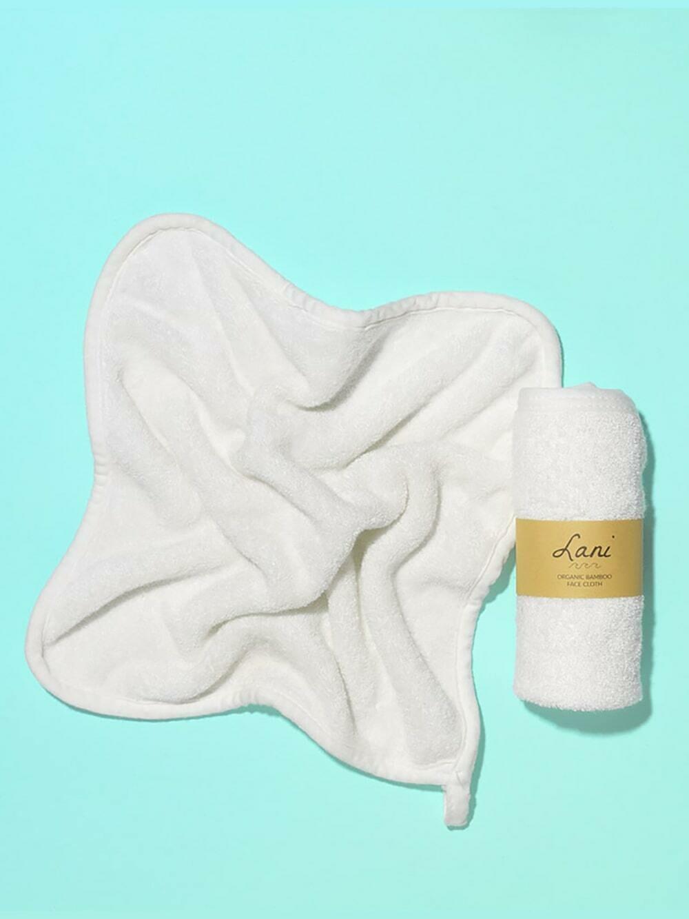 Lani Organic Bamboo Face Cloth, 25cm x 25cm