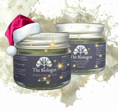 The Biologist Nourishing Lip Balm and Lip Scrub Christmas Bundle, 15ml (save £5)