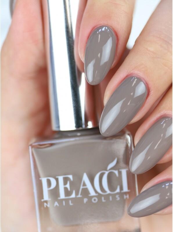 Peacci Nail Polish - Earthgrey, 10ml
