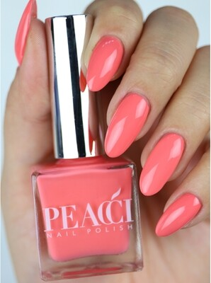 Peacci Nail Polish - Fired Coral, 10ml