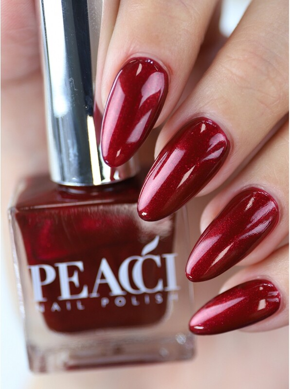 Peacci Nail Polish - Ruby Port, 10ml