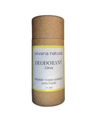 Nirvana Natural Deodorant - Citrus 70g