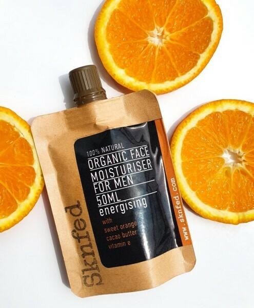 Sknfed Organic Face Moisturiser for Men, Energising, 50ml