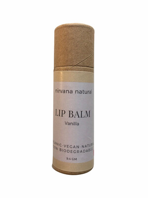 Nirvana Natural Lip Balm, Vanilla, 10gm.