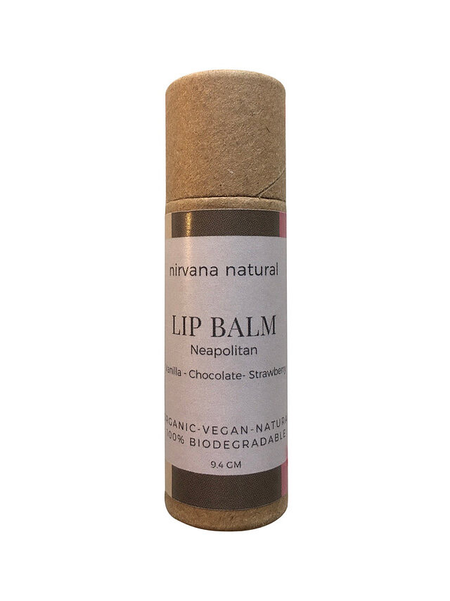 Nirvana Natural Lip Balm, Neapolitan, 10gm.