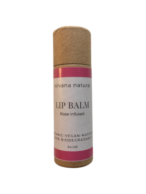 Nirvana Natural Lip Balm, Rose Infused, 10gm