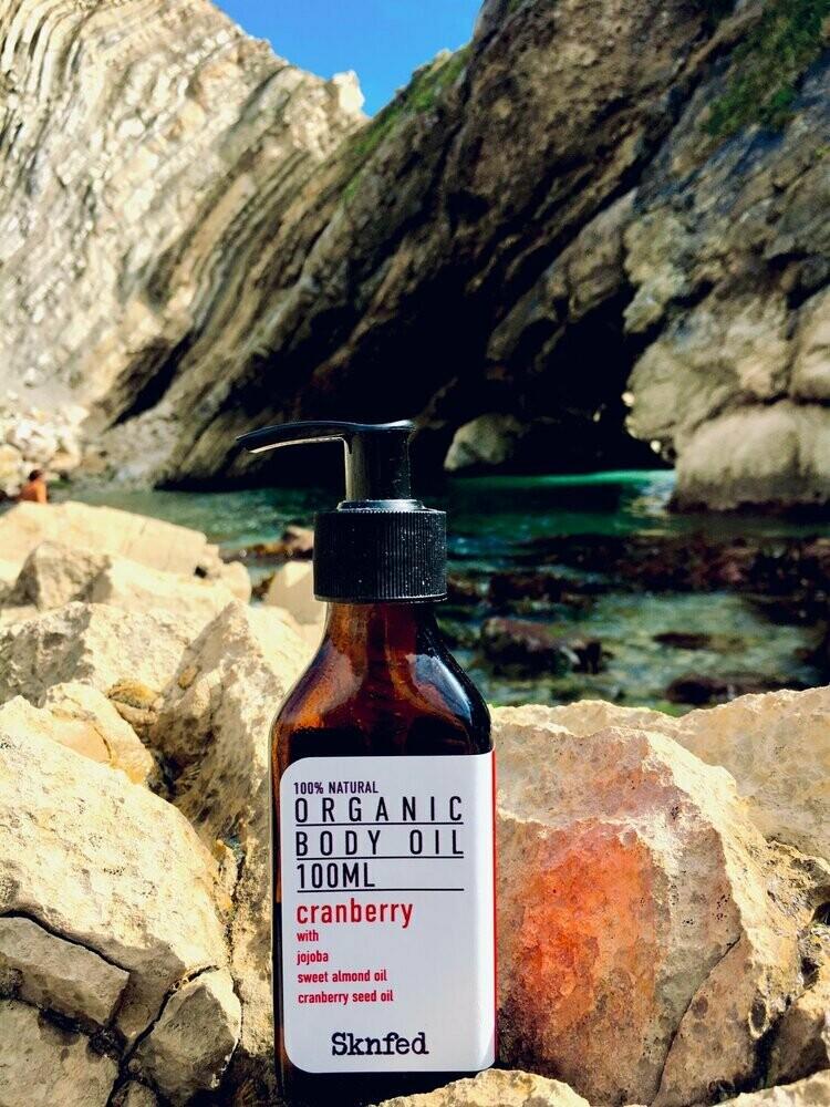 Sknfed Organic Body Oil - Cranberry, 50ml