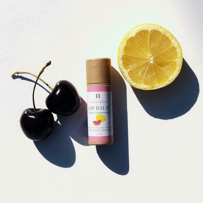 LIMITED EDITION, Nirvana Natural Lip Balm, Pink Lemonade, 10gm.