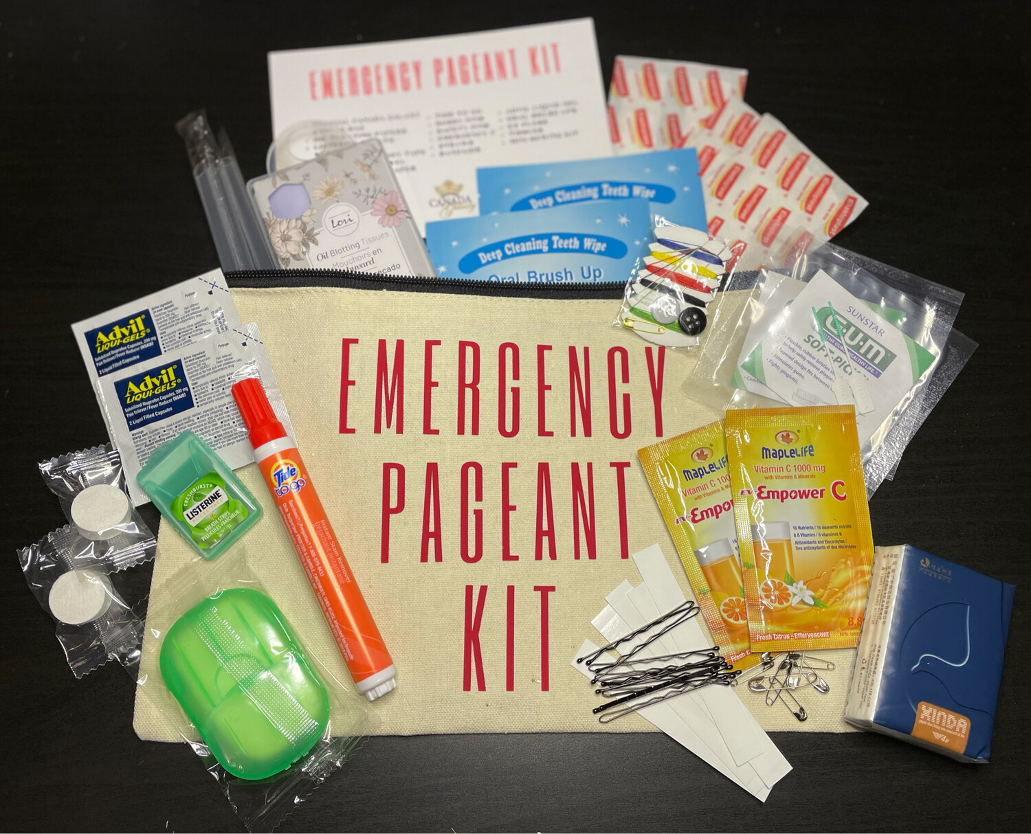 Emergency Pageant Kit
