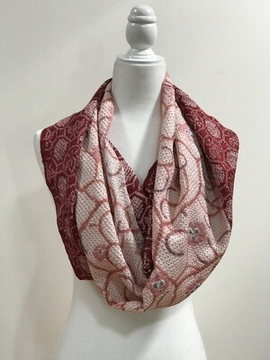Single infinity scarf 19.5 x 44in