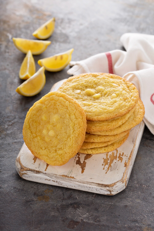 Lemon White Chocolate Chip Cookie