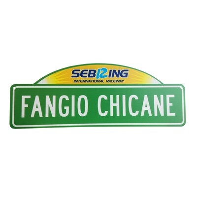 Street Sign w/top - Fangio Chicane