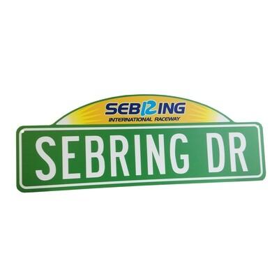 Street Sign w/top - Sebring Drive