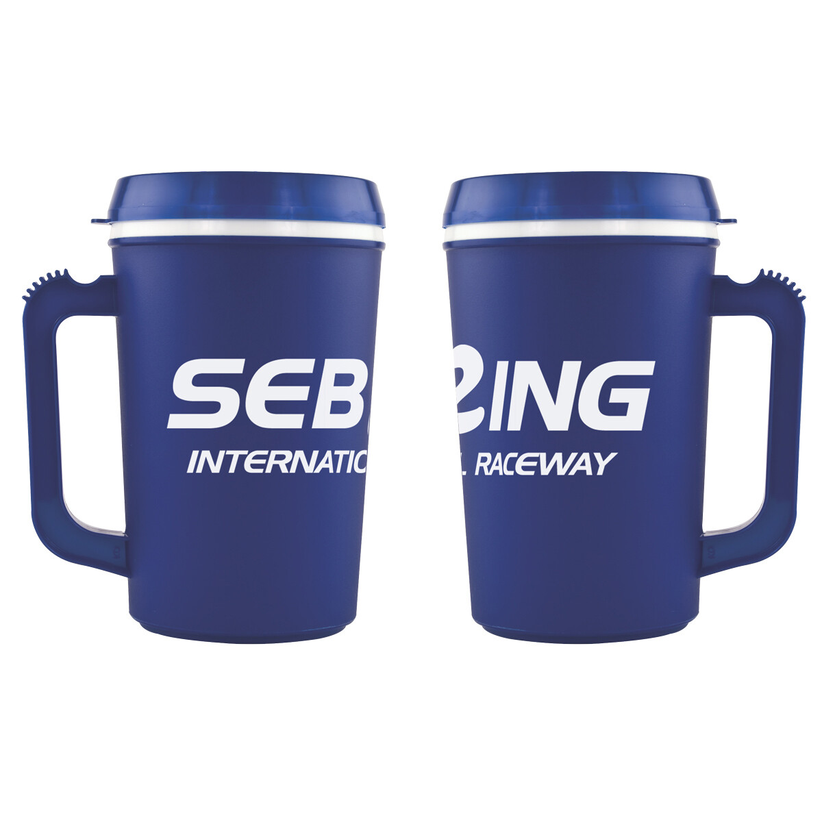 Sebring 22 oz.Mug - Blue/White