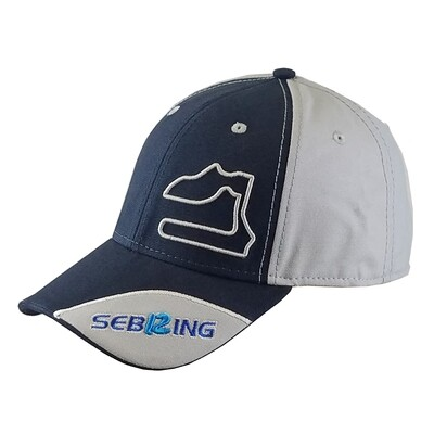 Sebring Track Outline Hat - Navy/Grey