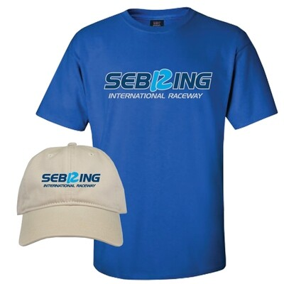 Sebring Tee & Hat Combo - Royal/Khaki