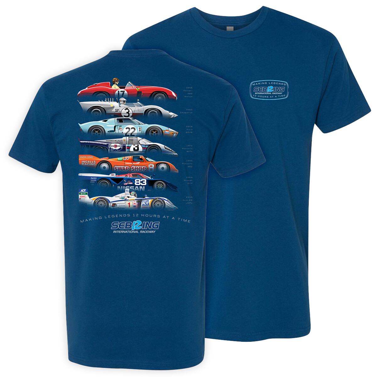 2020 Legends Of Sebring Tee - Cool Blue