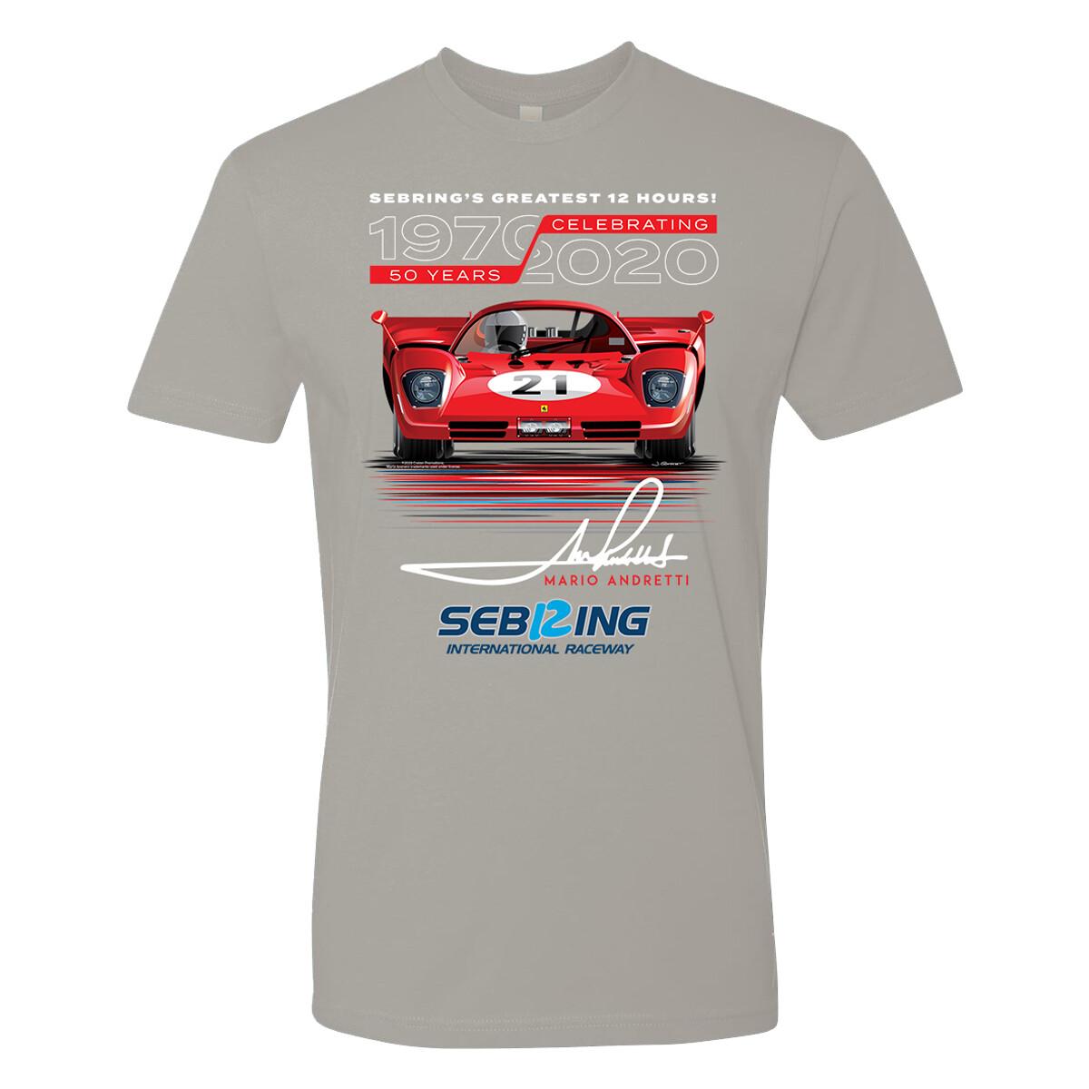 Andretti 50th Anniversary Tee - Silver Grey