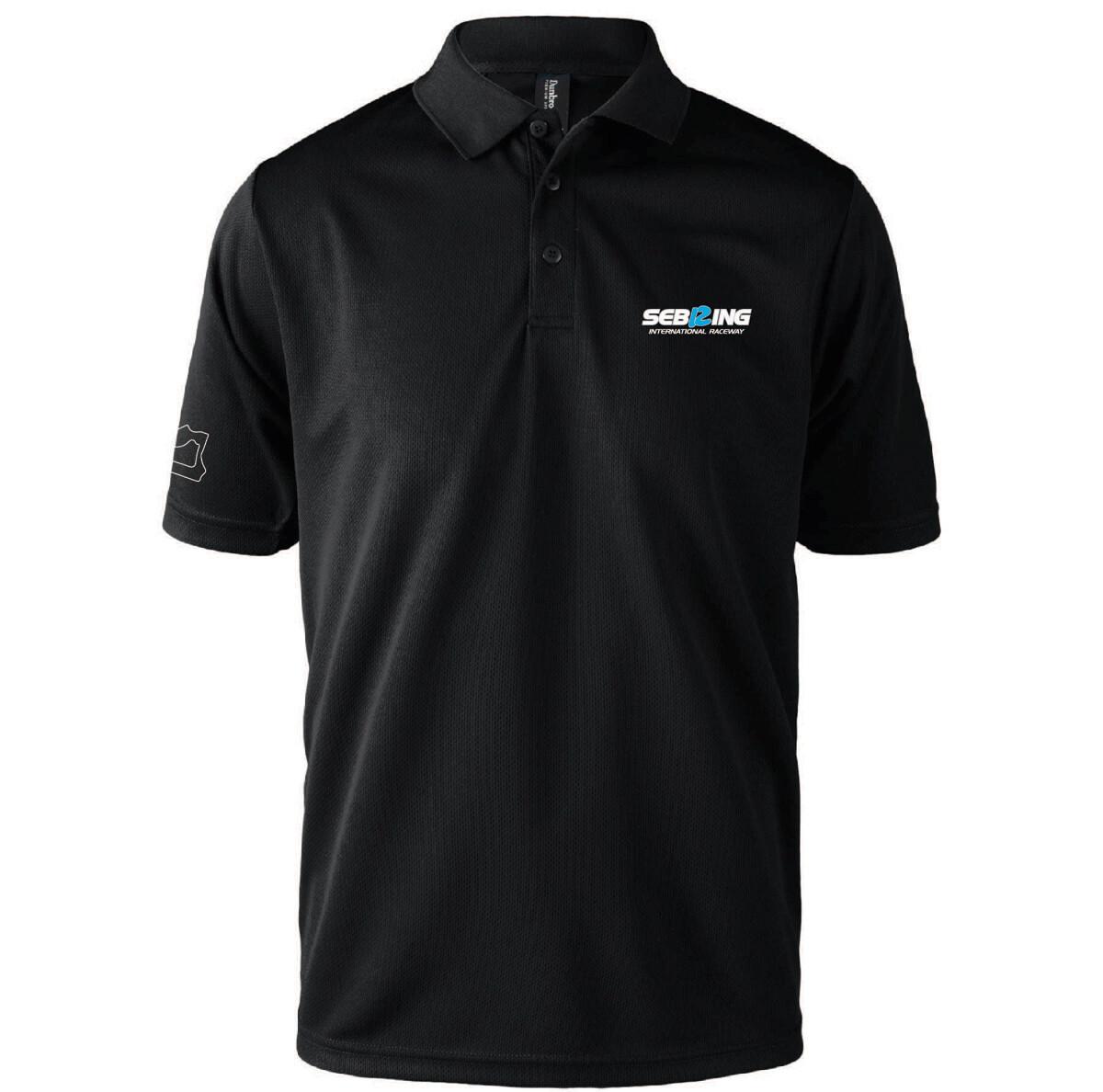 Sebring Dri-Mesh Men's Polo - Black