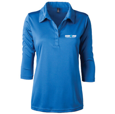 Sebring Ladies Contour Polo - Bright Royal