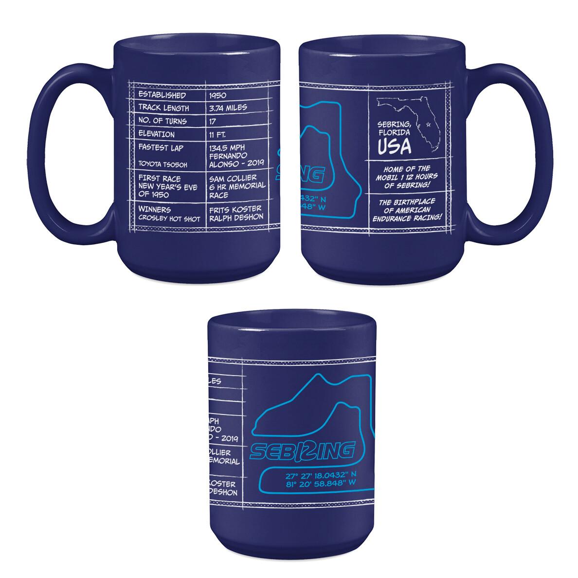 Sebring Track Coffee Mug Blue