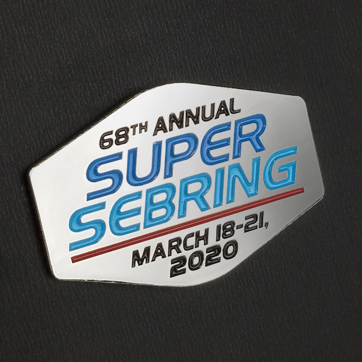 2020 SuperSebring Lapel Pin