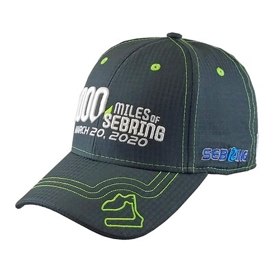68th 1000 Miles of Sebring Hat - Black