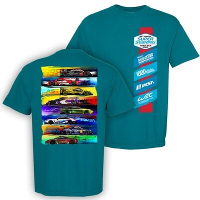 2020 SuperSebring Car Class Tee - Topaz