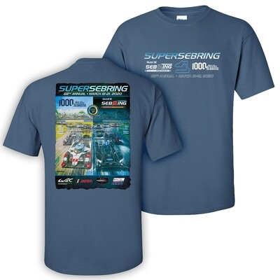 2020 SuperSebring 68th Poster Tee - Indigo Blue