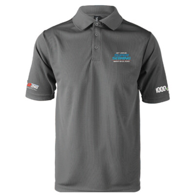 2020 SuperSebring Dri-Mesh Polo - Platinum Grey