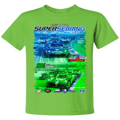 2019 SuperSebring Youth Sepia Tee -  Lime
