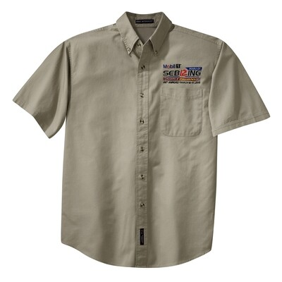 66th Mobil 1 12 Hours of Sebring Button Up Shirt -  Khaki
