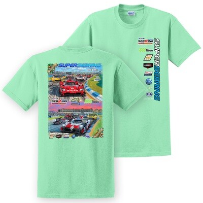 2019 SuperSebring Poster Tee - Mint Green