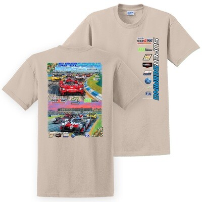 2019 SuperSebring Poster Tee - Sand