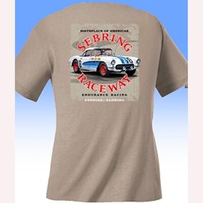 64 Cobra/57 Corvette Tee - Tan