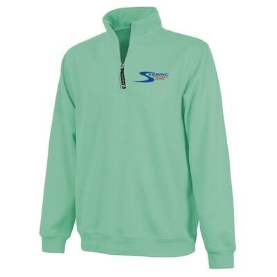 Sebring Crosswind Quarter Zip Sweatshirt Fleece - Aqua