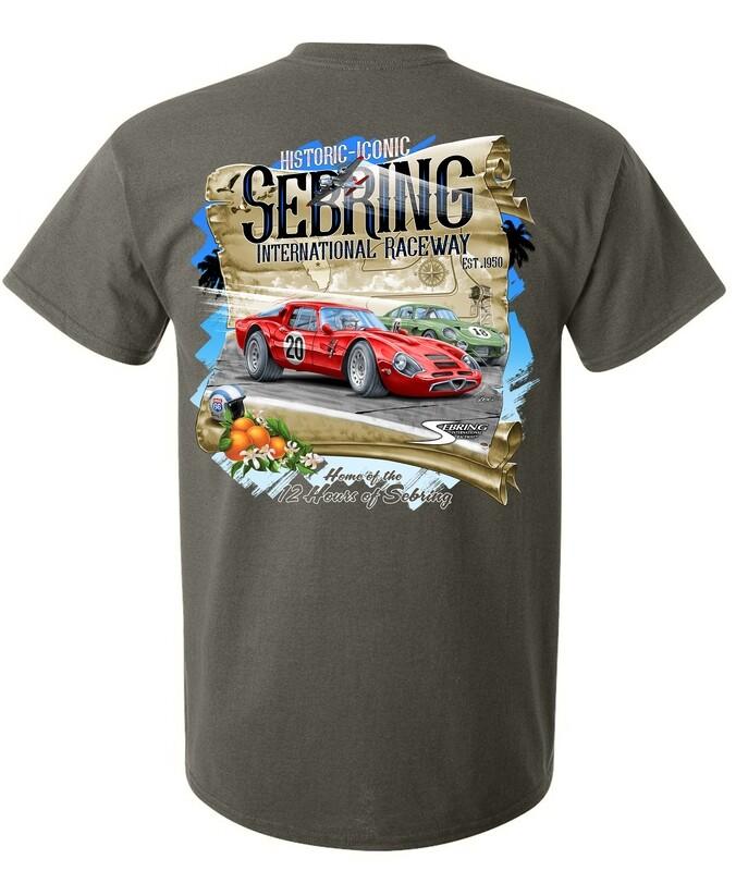 Sebring Historic Iconic Corvette Tee - Prairie Dust