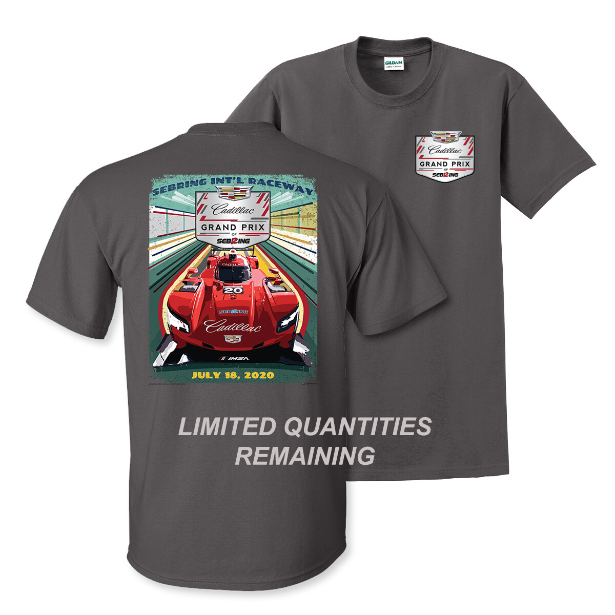 2020 Cadillac Grand Prix Official Event Tee Limited Edition - Charcoal
