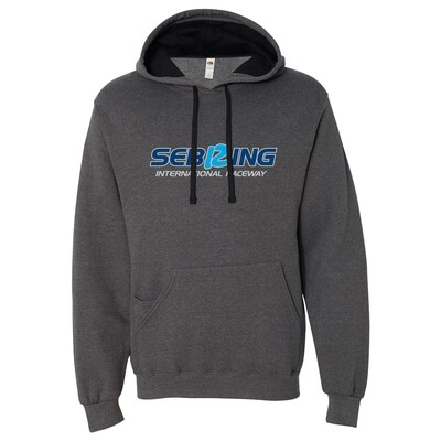 Sebring Men's Hoodie - Charcoal Heather/Black