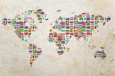 Foto Mural Mapa Mundi 1,80x1,35m