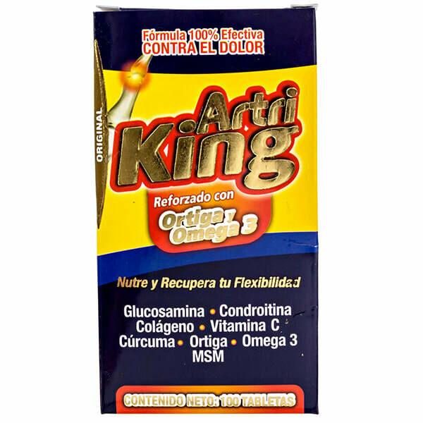 Artri King (Ortiga y Omega 3) 100 Tabletas
