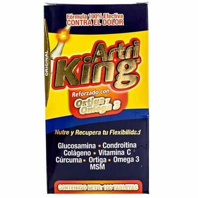 Artri King (Ortiga y Omega 3) 100 Tabletas