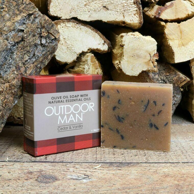 Outdoor Man Natural Olive Oil Soap | Jabon Natural para Hombre de Aceite de Olivo