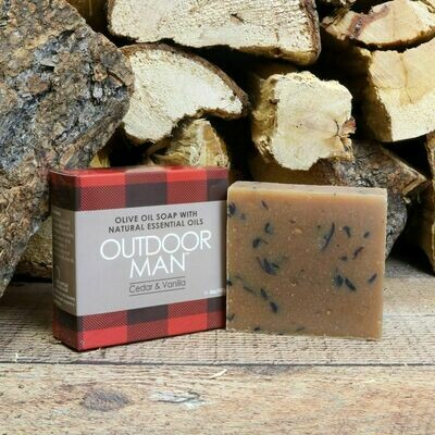 Outdoor Man Natural Olive Oil Soap | Jabon Natural para Hombre de Aceite de Olivo