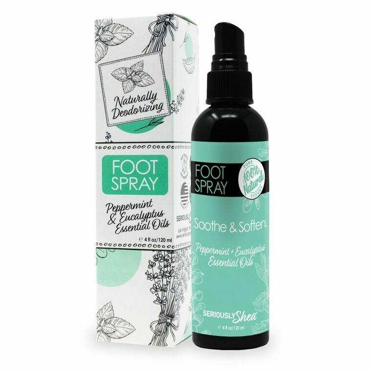 Deodorizing Foot Spray 100% Natural |  Spray Desodorante para Pies 100% Natural