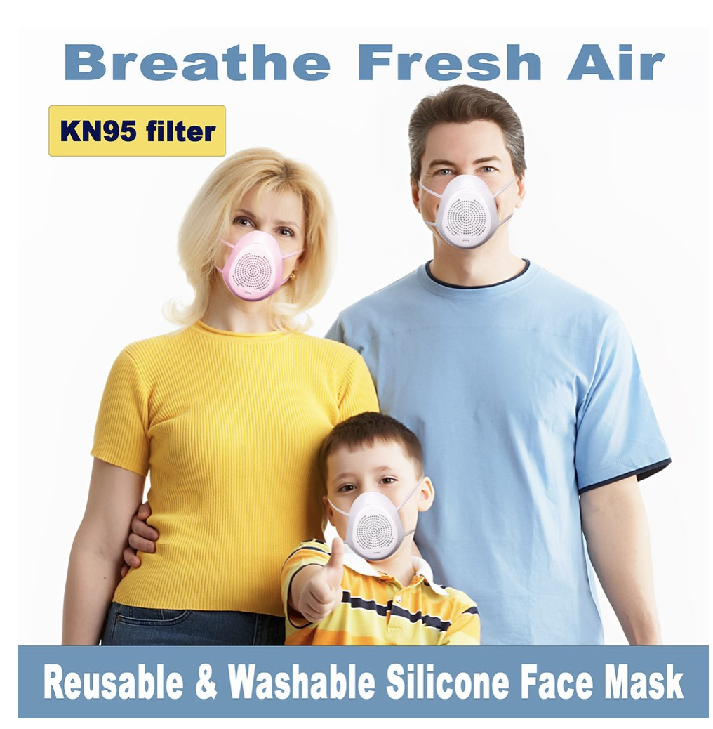 Silicone Washable Reusable Breathing Respirator Anti Virus Mouth Mask