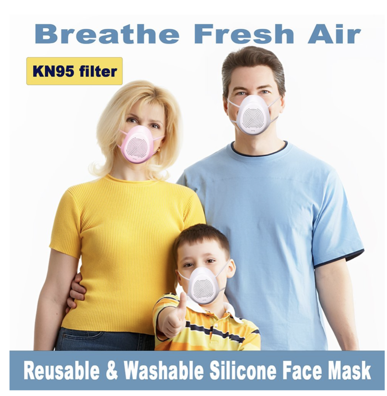 Silicone Washable Reusable Breathing Respirator Anti Virus Mouth Mask