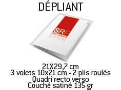 Dépliants 3 volets 21x29,7 cm